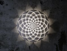 LIGHTING - 3D-Printed Lights - Dahlia Laser Sintered Light by Janne Kyttanen for…