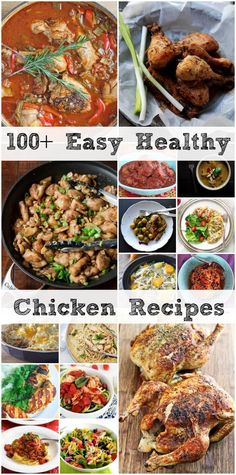 Easy, Healthy Chicken Recipes ~ Including chicken recipes for the oven, stovetop, grill, slow cooker ... even for leftover chicken! So many gorgeous recipes from top bloggers! ~ from Jeanette's Healthy Living
