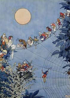 William Heath Robinson ~ The Fairy's Birthday ~ Holly Leaves (Magazine) December 1925