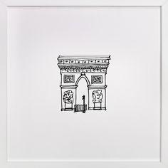 """The Arc de Triomphe Paris"" - Drawing Limited Edition Art Print by Phrosne Ras. Doodle Drawings, Doodle Art, Easy Drawings, Paris Tattoo, Paris Wall Art, Paris Art, Arc Triomphe, Drawing Simple, Paris Kunst"