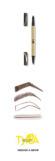 One pen, two ways to make your brows fabulous! #TYRABeauty #MenageABrow www.tyra.com/vanna4197