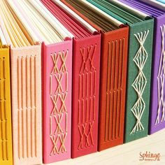 "Handbound photo albums. Longstitch versions / Álbumes de fotos encuadernados a mano. Versiones de costura ""Longstitch"""