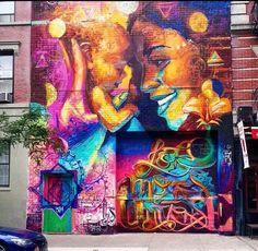 "#switch #streetart ""mother & child by #elninodelaspinturas in #nyc #graffiti…"