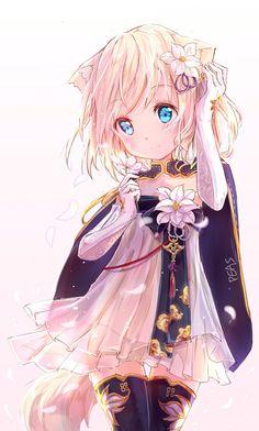 New Eye Drawing Anime Kawaii 43 Ideas Lolis Neko, Anime Girl Neko, Anime Child, Anime Girl Cute, Beautiful Anime Girl, Anime Girls, Manga Girl, Loli Kawaii, Kawaii Girl