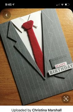 Masculine Birthday Cards, Handmade Birthday Cards, Masculine Cards, Men's Cards, Stampin Up Cards, Greeting Cards, Guy Birthday, Suit And Tie, Stamping Up