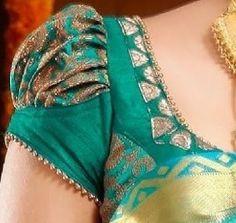 30 Latest Banarasi Blouse Designs For Sarees - Latest Banarasi Blouse Designs Blouse Designs High Neck, Cutwork Blouse Designs, Pattu Saree Blouse Designs, Simple Blouse Designs, Stylish Blouse Design, Bridal Blouse Designs, Latest Blouse Designs, Shirt Designs, Sari Design
