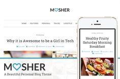 Check out Mosher - A Beautiful Personal Blog by Vafpress on Creative Market