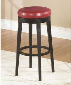 "Armen Living Mbs-450 30"" Backless Swivel Barstool - Red (LC450BARE30)"