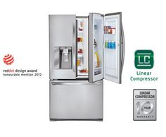 LG Refrigerators | LG LFX31945ST Door-in-Door Super Capacity French 3-Door Fridge. I need this.