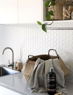 Bring your dream to life with Mono Hexagonal White Gloss Mosaic from Beaumonts. Discover Australia's best range of Tiles. Beaumont Tiles, Splashback Tiles, Keep It Simple, Kitchen Tiles, Other Rooms, Interior Inspiration, Townhouse, The Help, Mosaic