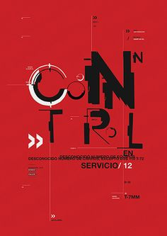 Control - Afiche tipográfico on Behance