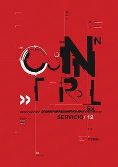 Control - Afiche tipográfico on Behance