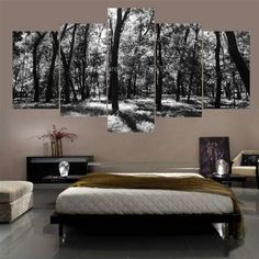 Brand-new arriving 5 Panels unframed Black And White Nature Forest Scenery Wall Art On Canvas Wall To Wall Picture Posters And Prints For Home now at a discount US $21.99 with free delivery  you can purchase that piece and more at our online shop      Find it now here >> http://thegallery.store/products/5-panels-unframed-black-and-white-nature-forest-scenery-wall-art-on-canvas-wall-to-wall-picture-posters-and-prints-for-home/,  #TheGalleryStore