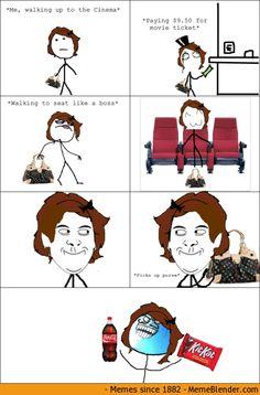 i lied meme at the cinema