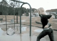 Sometimes a puddle is for splashing and sometimes it leads to another dimension...