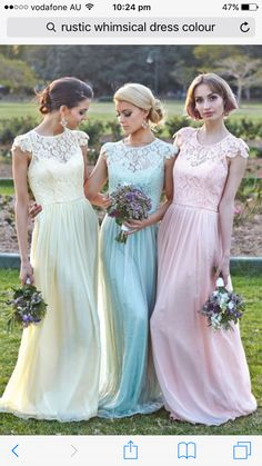 2b1bdc141e27 Different Colors Junior Pretty Cap Sleeve Small Round Neck Chiffon Top Lace  Long Affordable Bridesmaid Dresses, The long bridesmaid dresses are fully  lined, ...