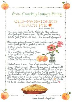 Old Fashioned Peach Pie ~ Susan Branch