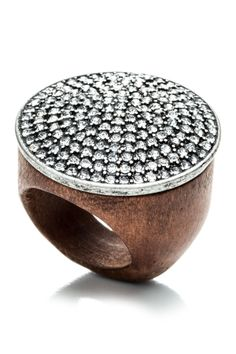 Pave Wood Ring