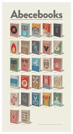 Poster by Pita Gan and Oriol Fernández // Challenge accepted! I'm reading all of these books before 2013.