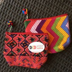 These two Antigua Accessory pouches will be given away on Friday, June 24th via #Instagram  Simply FOLLOW both @globalnativestore and @ru4children to be entered to win. #follow2WIN #ethicalfashion #textile #design #fashion #leather #givingback
