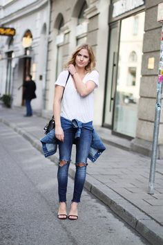 The Biggest Denim Trend for 2015: Frayed hems on jeans