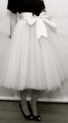 tulle skirts | Tea Length Tulle Tutu Skirt by Get Go Retro