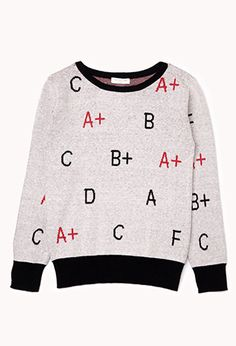 Pop Quiz Sweater (Kids) | FOREVER21 girls - 2002246019