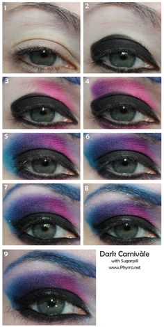 Sugarpill Dark Carnivàle Tutorial - Tropical Vacation Contest Ends 3/22/13