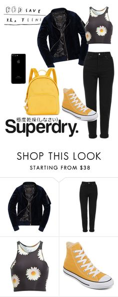 """""""The Cover Up – Jackets by Superdry: Contest Entry"""" by dreammoore13 ❤ liked on Polyvore featuring Superdry, Topshop, teeki, Converse and Tommy Hilfiger"""