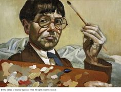 Sir Stanley Spencer painted self portraits throughout his life. I love how unaffected they are, and this is my favorite.