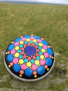 Hand Painted Mandala Stone From IONA by SoulsThatShine on Etsy