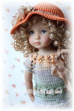 "OOAK Hand Knitted Set by R M Dollfashion Fall Line for Effner 13"" LD Dolls | eBay ♡"