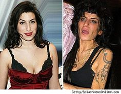 Amy Winehouse before and after Drugs.