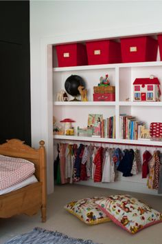 Open Closet for Small rooms. This Colorful, Magical Child's Bedroom Is Like a Real-Life Wonderland | The Stir