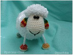 adorable crocheted lamb (foreign site -no pattern)