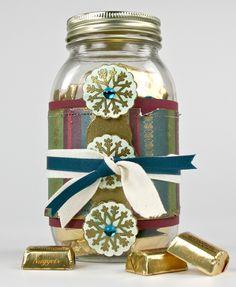 Decorative Holiday Gift Jar  #spottedcanarycontest