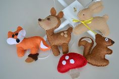 Woodland Baby Mobile Crib Mobile Nursery Decor Forest by TheMemis, $85.00