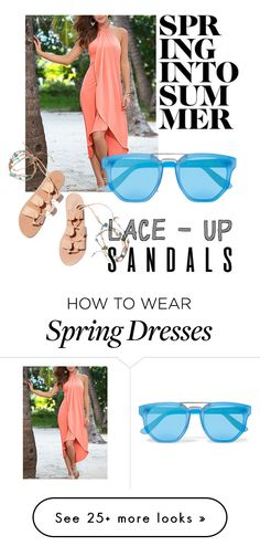 """""""Spring into Summer"""" by queenchellie on Polyvore featuring Le Specs and Ancient Greek Sandals"""