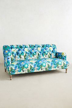 Orianna sofa - The Orianna Sofa from home and fashion retailer Anthropologie is a fresh take on a vintage style inspiration. This vibrantly patterned furniture pi. Deco Furniture, Unique Furniture, Furniture Makeover, Home Furniture, Furniture Design, Anthropologie Sofa, Floral Sofa, Patterned Furniture, Home Living Room