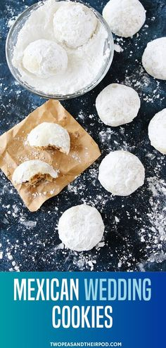 Mexican Wedding Cookies are the perfect Christmas cookies you should include on your holiday baking list! They are buttery pecan cookies rolled in confectioners sugar making them look just like snowballs. Make this for your cookie exchange parties! Chocolate Chip Shortbread Cookies, Toffee Cookies, Quick Cookies, Yummy Cookies, Salted Caramel Mocha, Mexican Wedding Cookies, Butterscotch Chips, Best Cookie Recipes, Holiday Baking
