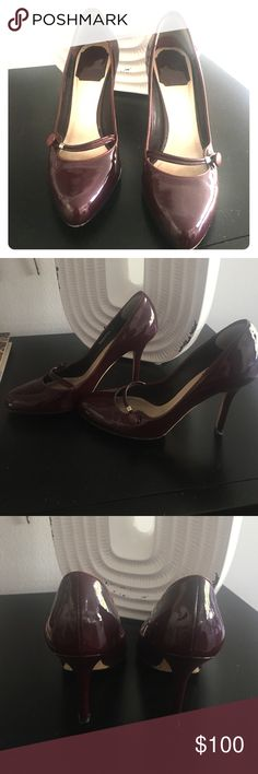Christian Dior Patent Mary Janes - 100% Authentic Oxblood patent Mary Janes; almond toe; gently worn; no real signs of wear; no scuffs or scratches: box and dust bag (stock photo is black - for illustration only) Christian Dior Shoes Heels