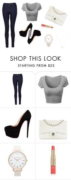 """""""Untitled #87"""" by electraz on Polyvore featuring J Brand, Chanel, Topshop and Estée Lauder"""