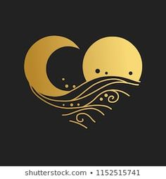 Find Sun Moon Sea Waves Decorative Graphic stock images in HD and millions of other royalty-free stock photos, illustrations and vectors in the Shutterstock collection. Moon Sun Tattoo, 1 Tattoo, Moon Sea, Sun Moon, Moon Design, Art Design, Graphic Design, Art Soleil, Moon Logo