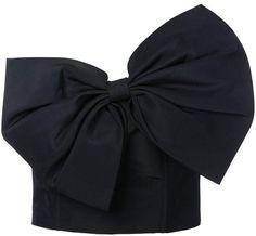 Bambah slanted bow bustier