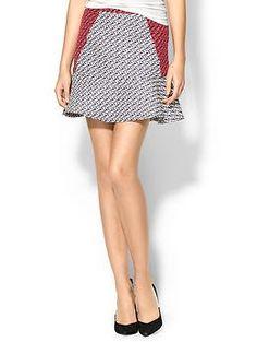 C.Luce Textured Flip Skirt | Piperlime