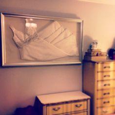 My framed wedding dress!