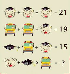 Solve the picture math puzzles
