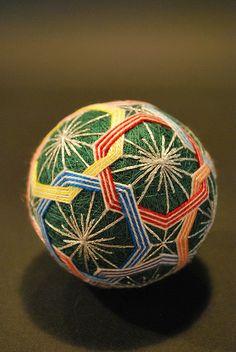 Japanese traditional hand-made ball, Temari 手鞠