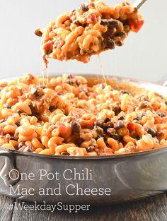 One Pot Chili Mac and Cheese #WeekdaySupper