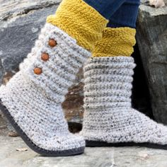 How to Crochet Boots With Flip Flops – Free Pattern + Video